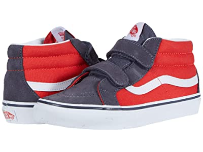 Vans Kids SK8-Mid Reissue V (Big Kid) ((Two-Tone) Grenadine/Periscope) Boys Shoes