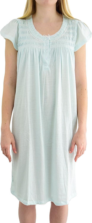 EZI Women's 'Casey' Cap Sleeve Cotton-rich Nightgown
