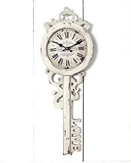 The Lakeside Collection Love Key Wall Clock with Distressed Finish and Roman Numerals