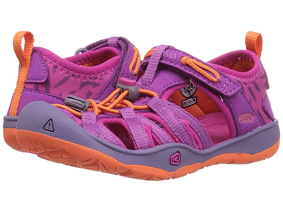 Keen Kids Moxie Sandal (Toddler/Little Kid) (Purple Wine/Nasturtium) Girl
