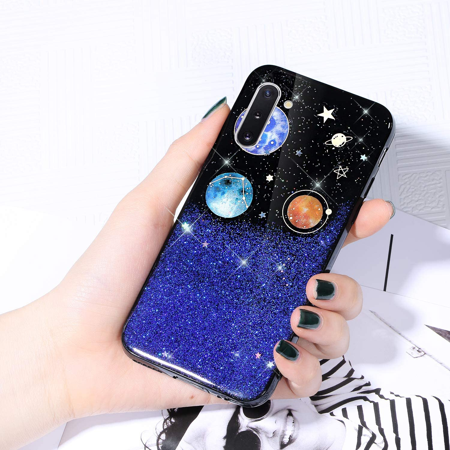 Case for Galaxy Ranking TOP15 Max 84% OFF Note 10 Starry Sparkle Glitter Cover Shiny