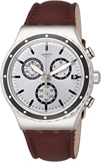 Men's Chronograph Quartz Watch with Leather Strap YVS437