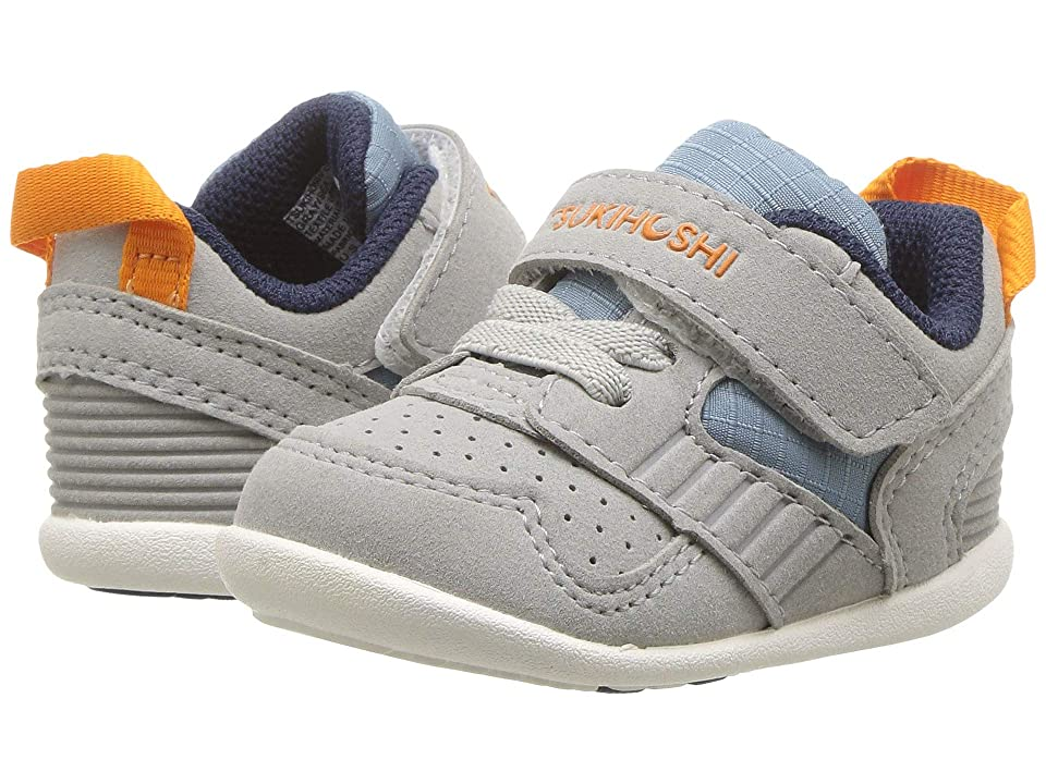 Tsukihoshi Kids Racer (Infant/Toddler) (Gray/Sea) Boys Shoes
