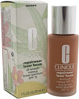 Clinique Repairwear Laser Focus All Smooth Makeup SPF 15 for Very Dry and Dry Combination Skin, Shade No. 09 (m-n), 1 Ounce