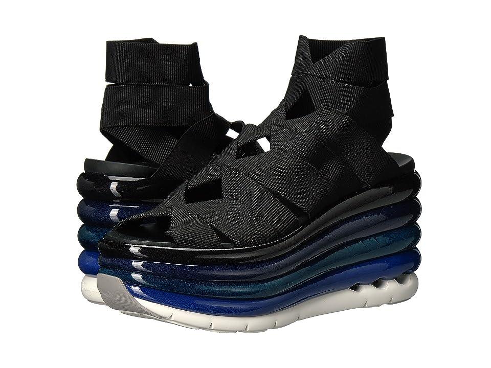 Salvatore Ferragamo Elastic Platform Slip-On Sneaker (Nero) Women