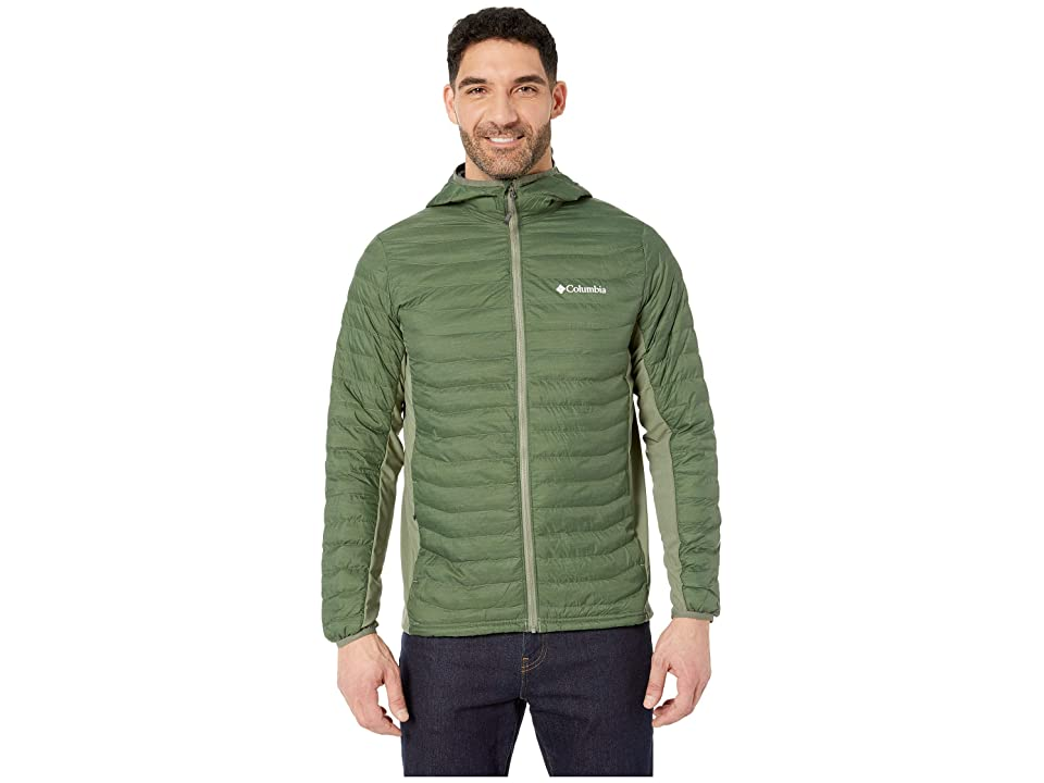 Columbia Powder Passtm Hooded Jacket (Cypress Heather) Men