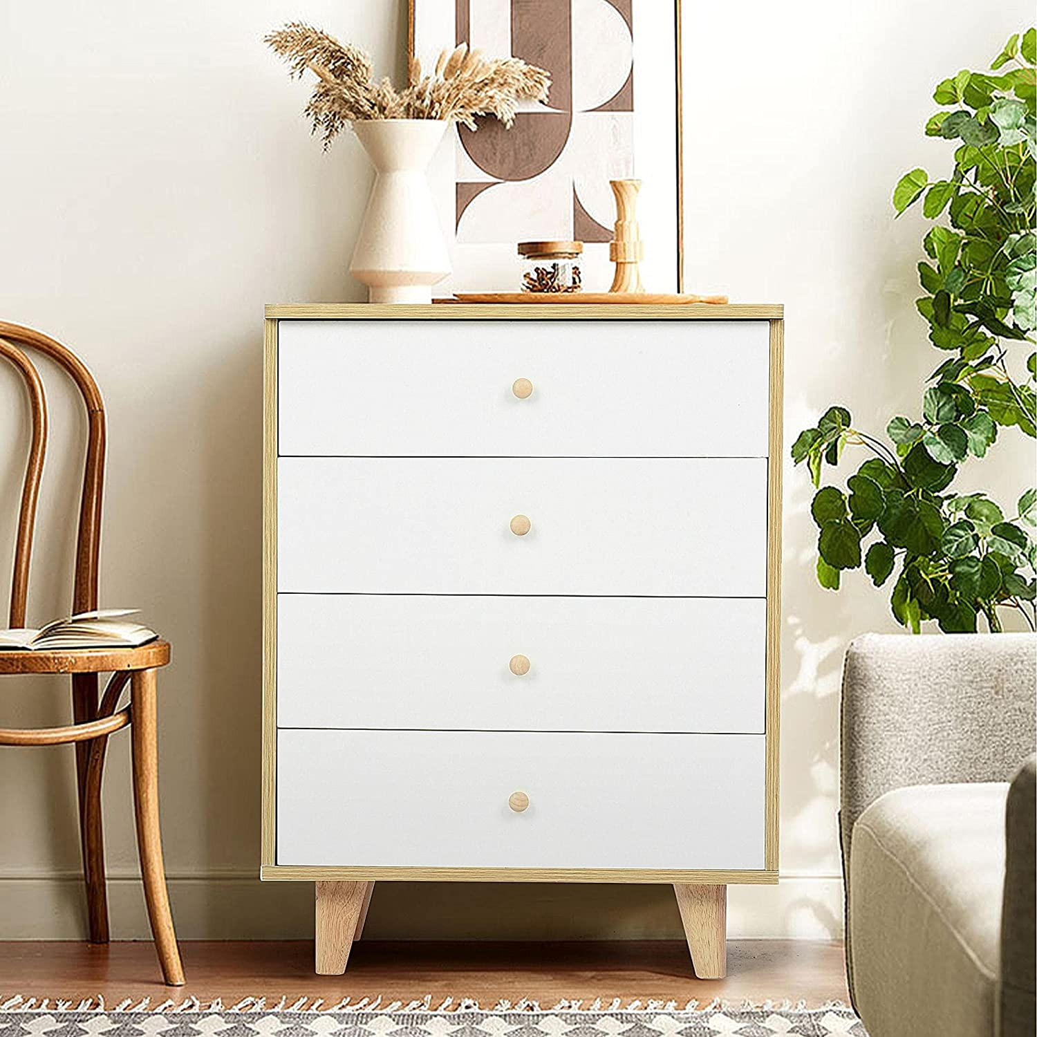 Nightstand End Table Brand Cheap Tulsa Mall Sale Venue Side with 4 Drawers Storage Solid