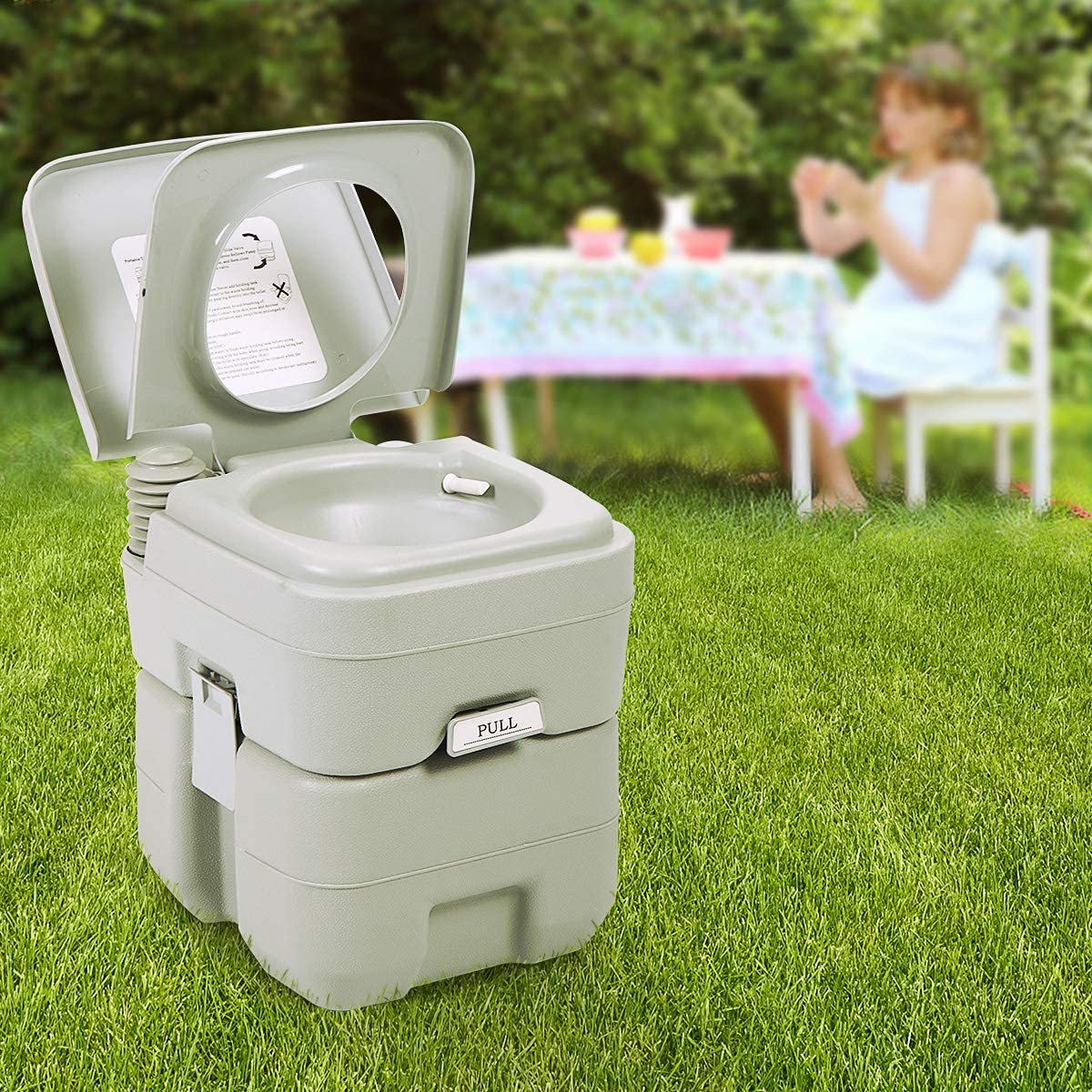 Sandinrayli Portable Toliet 5 Gallon Camping 20L Over safety item handling Toilet Outdoor