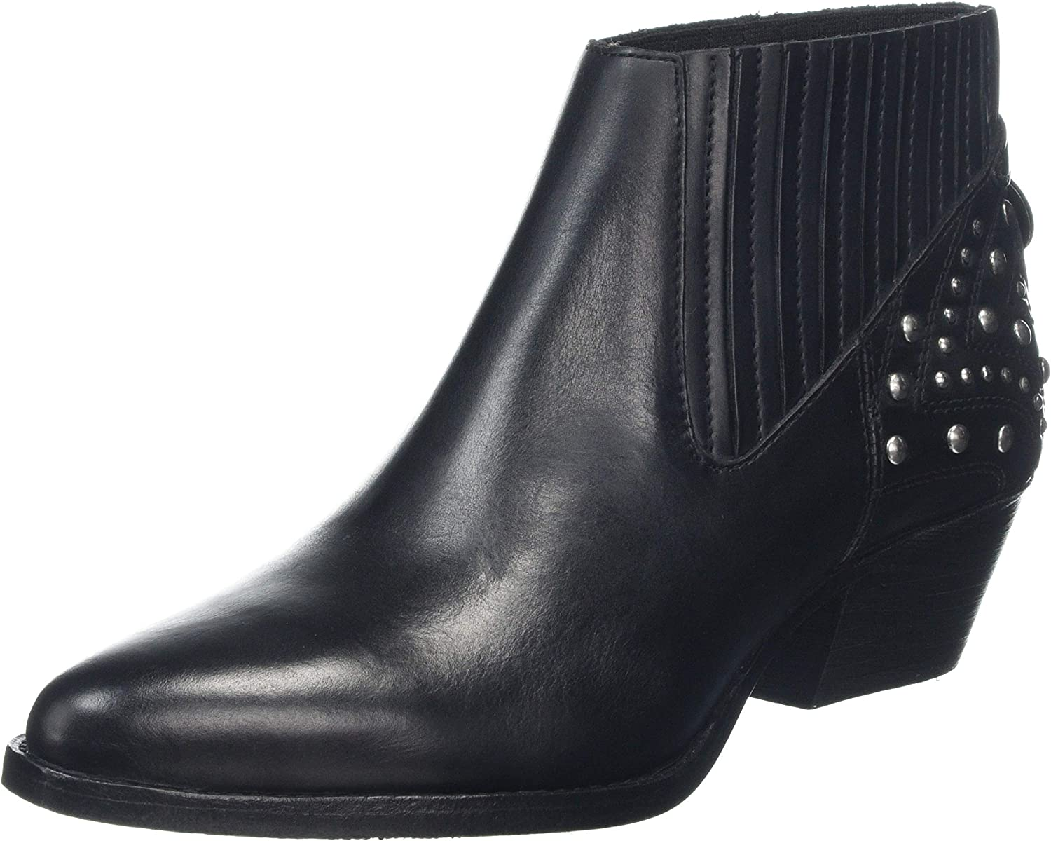 H By Hudson Women's Studded Leather Ernest Boots Black UK 7