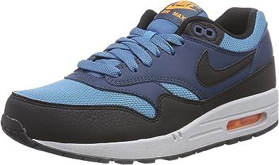 Amazon.com | Nike Men's Air Max 1 Essential Blue/Black/White ...
