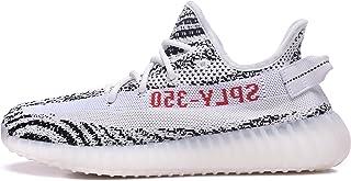 Men Women Breathable Mesh 350 V2 Sport Sneakers Walking Running Shoes (Men US8.5 =EUR 42, Zebra)