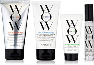 COLOR WOW Quick Frizz Fixes! Travel Kit Includes Shampoo, Conditioner, Styling Cream and Gloss Treatment, 6.4 Fl Oz