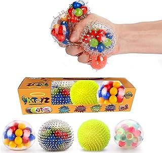 KTOYZ Dna Stress Balls - Fidget Toy Set ,Squishy Toys,Kid Safe and Non-Toxic Stress Balls with Water Beads ,Sensory toys f...