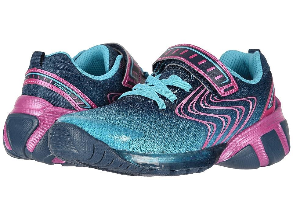 Stride Rite SR-Lights Lux (Toddler/Little Kid) (Blue) Girls Shoes