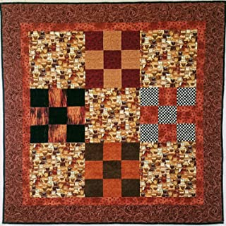 Cats Baby Quilt in Browns and Creams