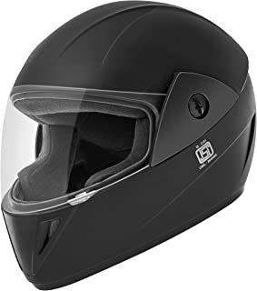 Gliders. Jazz Full Face ABS Shell Helmet (Black with Clear Visor, 580 mm)