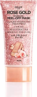 Rose Gold Luxury Sparkling Peel Off Moisturizing Mask By Azure– Reduces Wrinkles, Fine Lines & Acne Scars   Removes Blackheads & Dirt and Oil   Repairs Uneven Skin Tone – 150ml