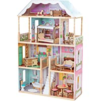 KidKraft 65956 Charlotte Classic Wooden Dollhouse with Ez Kraft Assembly Dollhouses (Multicolor)