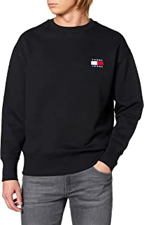 Tommy Hilfiger Felpa Patch Logo Nero DM0DM06592BD2 XS