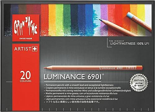 Todo en alta calidad y bajo precio. Caran d-Ache Luminance 6901 Multi 20pieza(s) laápiz de Color - - - Lápiz de Color (20 pieza(s), Retráctil, Multi, Madera, MultiColor, Suiza)  Venta barata