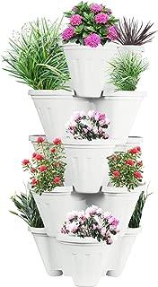 POTS4NATURE Plastic Stack-A-Pot for Floor Set Stackable Pots for Home & Garden, Office, Hotel, Indoor & Outdoor Pot/Planter(Planter, 5-Pieces)