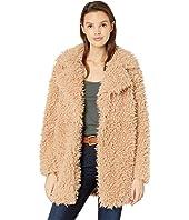 Fuzzy Faux Fur Coat