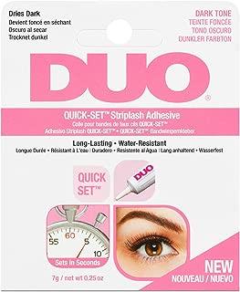 DUO Striplash Eyelash Glue Dark (7g/0.25 oz) New Improved EU Formulation - False Lash Glue for all Ardell Eyelashes - Quick Set Formula