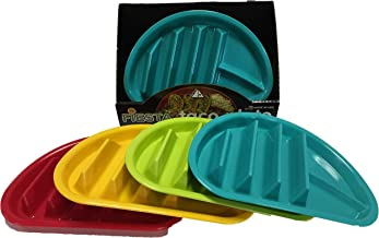 Arrow Home Products Fiesta Taco Plate, 12-Pack, Assorted Colors