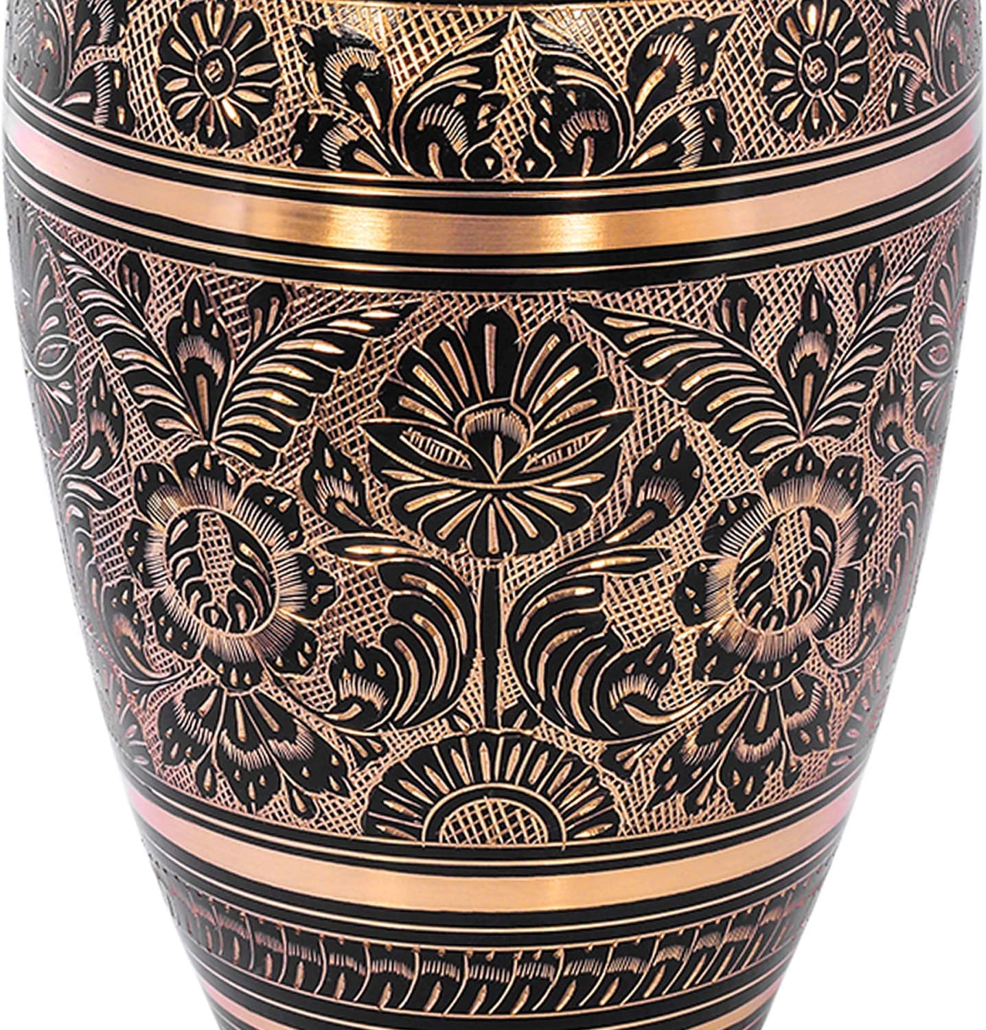 Funeral Burial Urns by Divit Shilp Royal Blue Cremation Urn for Human Ashes with Velvet Bag , Adult for Adults up to 200 lbs