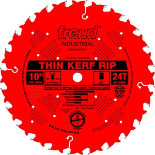 Freud 10 In. 24 Tooth Thin Kerf Ripping Saw Blade with 5/8 In. Arbor (LU87R010)