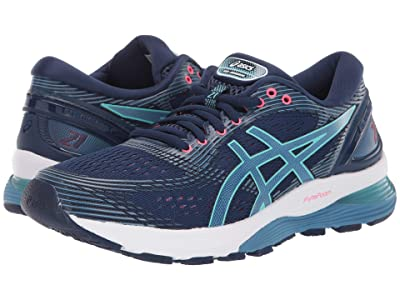 ASICS GEL-Nimbus(r) 21 (Blue Expanse/Grey Flannel) Women