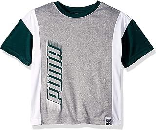 PUMA Boys 71191703FME-P078 Boys' Graphic Tee Short Sleeve T-Shirt - Gray