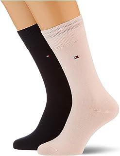Tommy Hilfiger, Classic Socks Calcetines, Rosa/azul, 39-42 para Hombre