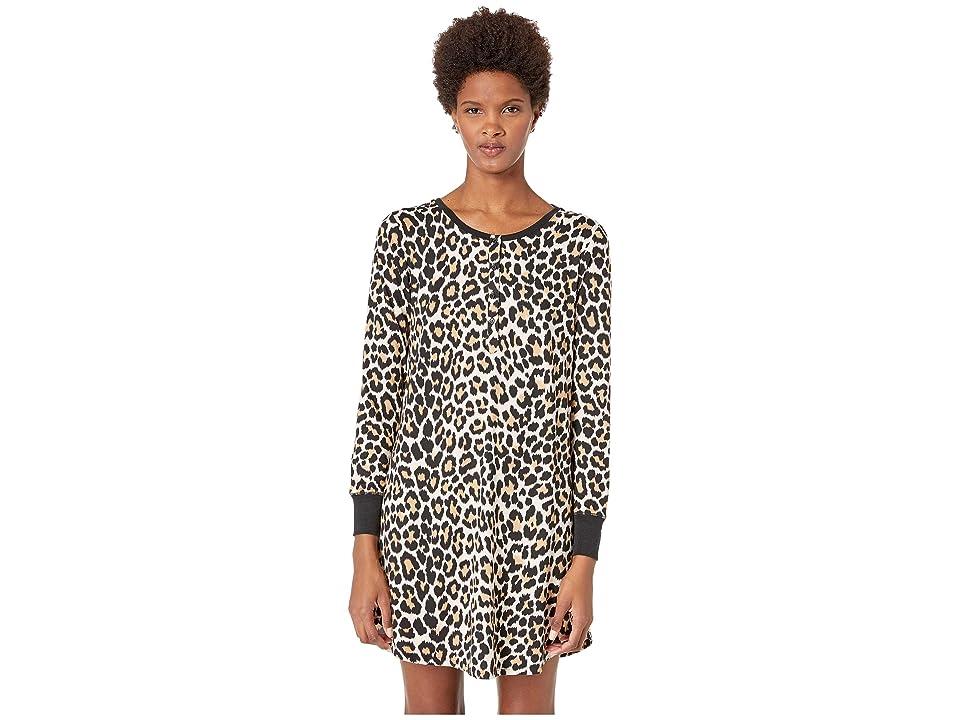 Kate Spade New York Printed Sleepshirt with Eyemask (Leopard) Women
