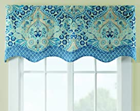 Wedding Kitchen 52 Valance Curtain Taupe Bathroom Paisley Spa Blue Teal Bedroom Waverly White Damask