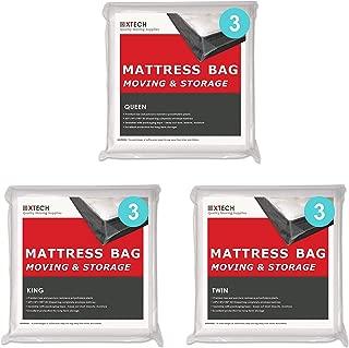 Xtech Mattress Bags for Moving Supplies Bundle: 3 King Mattress Bag, 3 Queen Mattress Storage Bag, 3 Twin Sealable Matress Bed Storage Protection Bag.