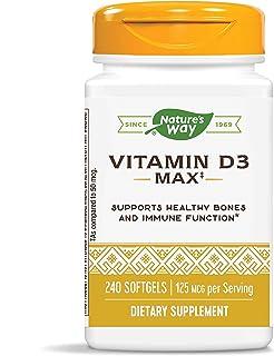 Nature's Way Vitamin D3 Max, 125 mcg per serving, 240 Softgels