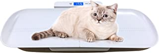 ONETWOTHREE Precision Digital Pet Scale for Dogs and Cats with 3 Weighing Modes, Tray Size 27.5 Inches, 220 Pounds Capacity (White)