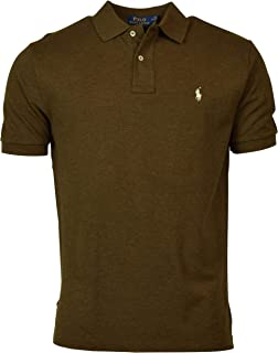 POLO RALPH LAUREN Men's Classic Fit Solid Mesh Polo Shirt - S - Brown HTR