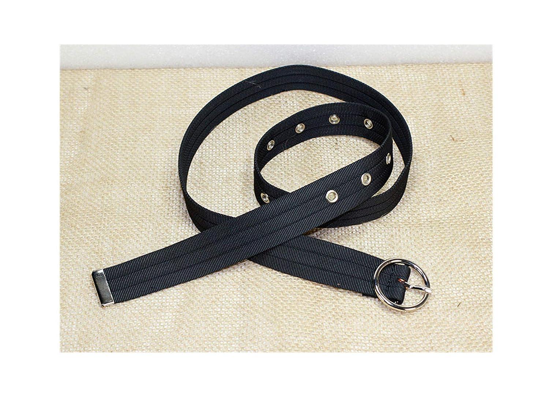 Women's Canvas Web Belt Long Waist Ring Buckle C Punk Belts Long ...