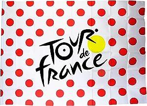Tour de Francia Bandera – Grimpeur – Camiseta de lunares de ciclismo – Colección oficial – 140 x 100 cm