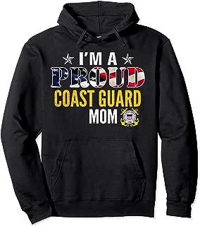 I'm A Proud Coast Guard Mom American Flag Military Veteran Pullover Hoodie