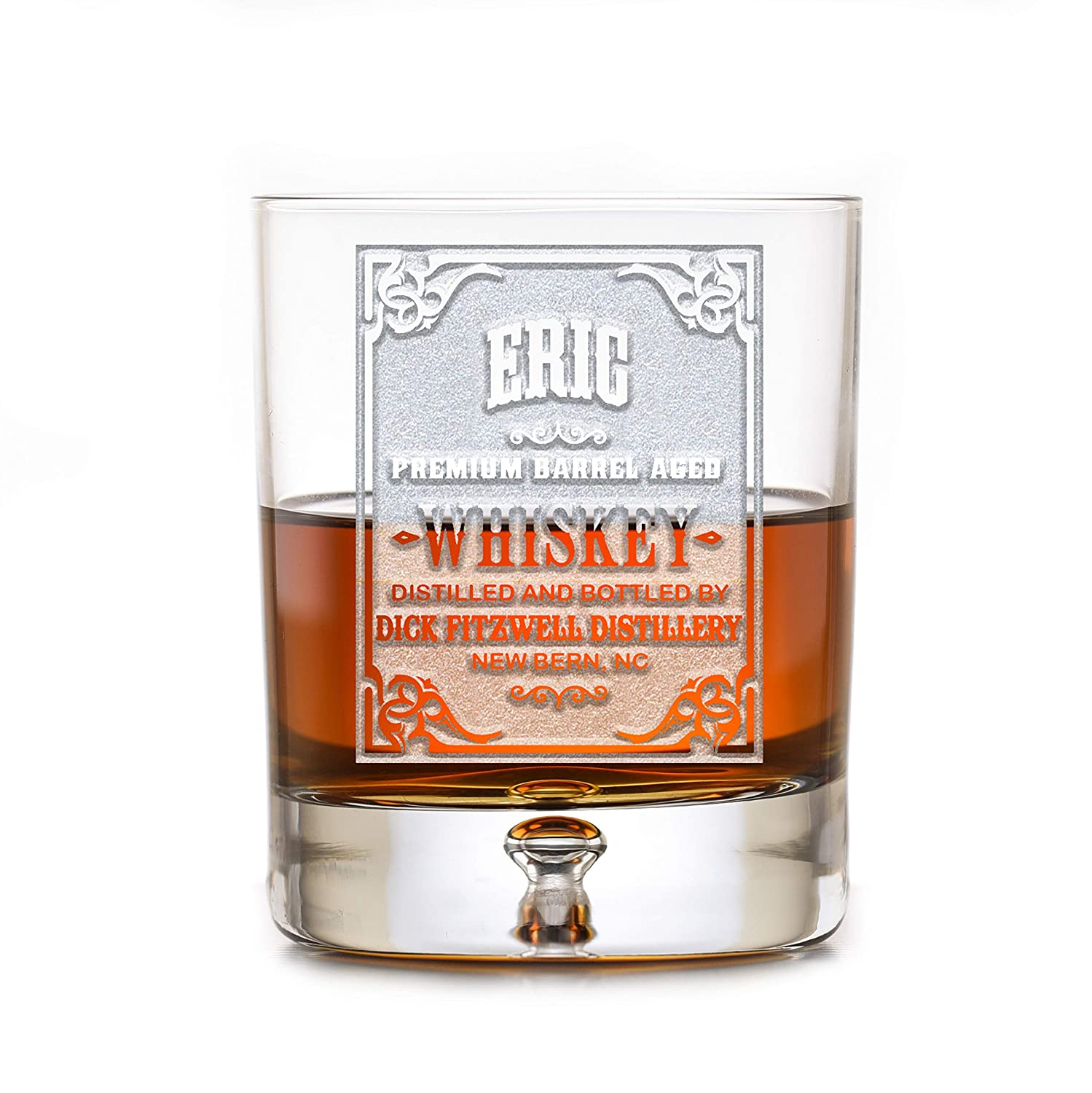 Engraved Lead-Free 2021 model Shipping included Crystal Rocks Bourbon Whiskey Glasses Glass