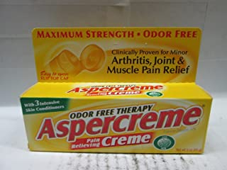Aspercreme Maximum Strength Pain Relieving Creme 3 Ounce (88ml)