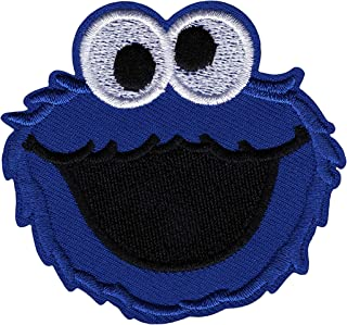 Cookie Monster Iron on Patch Fabric Applique Motif Sesame Street Decal