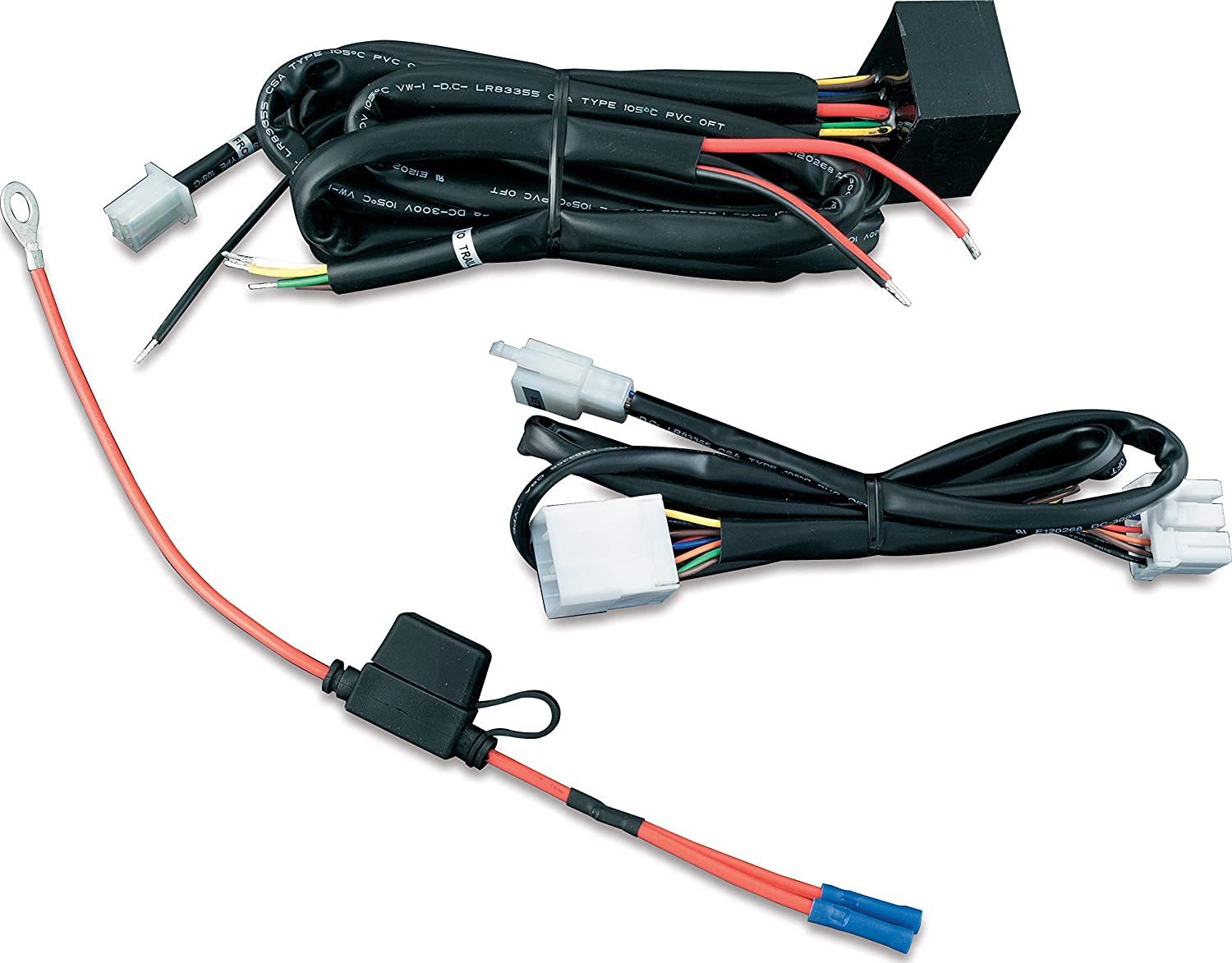 Amazon.com: Kuryakyn 7675 Motorcycle Accessory: 5 to 4 Wire Converter with 4 -Pin Flat Connector for Plug & Play Trailer Wiring Harness, Universal Fit:  Automotive   2015 Flhtcu 4 Pin Wiring Harness      Amazon.com