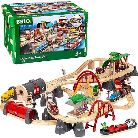 BRIO ( ブリオ ) WORLD レール&ロードデラックスセット 対象年齢 3歳~ ( 電車 おもちゃ 木製 レール ) 33052