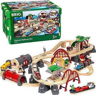 Brio BRI33052 Deluxe Railway Set, 87 Pieces Train Set,Green