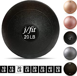j/fit Dead Weight Slam Ball for Strength & Conditioning WODs, Plyometric and Core Training, and Cardio Workouts - Available in Many Weights and Styles