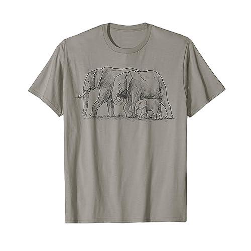 cbb94b1ba4670 Elephants Shirt. Family of Elephants T Shirt. Cute Elephant
